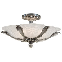 Signature 6 Light 23 inch Platinum Semi Flush Mount Ceiling Light in Brass