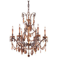 Metropolitan Signature 6 Light Chandelier in Dark Flemish N950820
