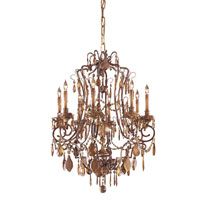Signature 8 Light 26 inch Dark Flemish Chandelier Ceiling Light