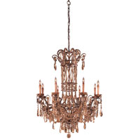 Signature 8 Light 35 inch Autumn Wood Chandelier Ceiling Light