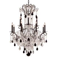 Signature 12 Light 35 inch Black Chandelier Ceiling Light