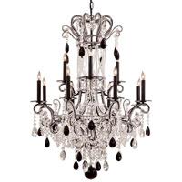 Metropolitan N951862 Signature 12 Light 35 inch Black Chandelier Ceiling Light