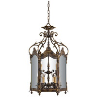Signature 9 Light 25 inch Oxide Brass Foyer Pendant Ceiling Light
