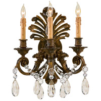 N952013 Metropolitan Metropolitan 3 Light 14 inch Stained Gold Wall Sconce Wall Light