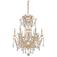 Signature 6 Light 29 inch Ivory Chandelier Ceiling Light