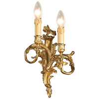 Signature 2 Light 9 inch Stained Gold Wall Sconce Wall Light