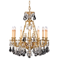 Metropolitan French Gold Steel Crystal Chandeliers