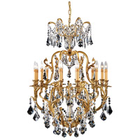 Metropolitan N9701 Crystal 12 Light 32 inch French Gold Chandelier Ceiling Light