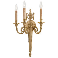 French Gold Brass Wall Sconces