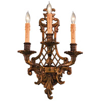 Signature 3 Light 13 inch Oxide Brass Wall Sconce Wall Light