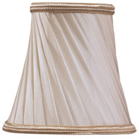 Metropolitan Signature Glass Shade in Eggshell Twist and Gold Trim SH1929