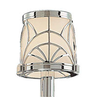 Metropolitan SH6923-1 Walt Disney Signature Storyboard Shade Chrome w/Macassar Ebony Accessory