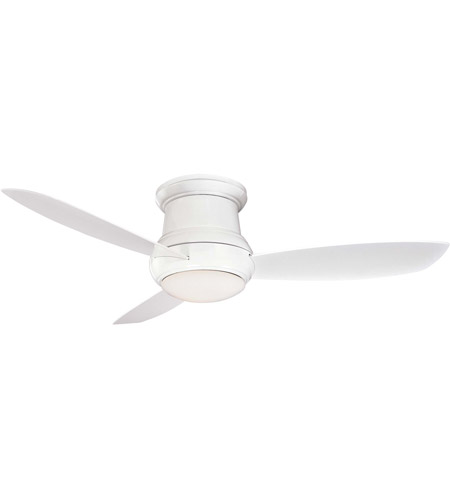 Minka Aire F474 Wh Concept 52 Inch White Outdoor Ceiling Fan In Opal