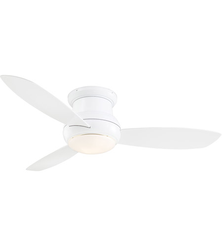 Minka aire f474l wh concept ii wet 52 inch white flush mount ceiling 52 inch white flush mount ceiling fan 1118382 concept ii wet 92 minka aire f474l wh aloadofball Images