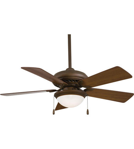 Minka-Aire F563-SP-ORB Supra 44 inch Oil Rubbed Bronze with Medium Maple Blades Ceiling Fan photo thumbnail