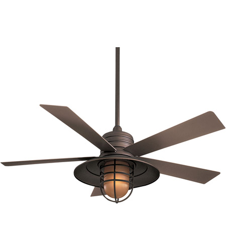 Minka aire f582 orb rainman 54 inch oil rubbed bronze with taupe minka aire f582 orb rainman 54 inch oil rubbed bronze with taupe blades outdoor ceiling fan in vintage amber aloadofball Images