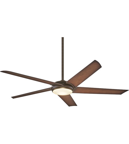 Minka-Aire F617L-ORB/AB Raptor 60 inch Oil Rubbed Bronze With Antique Brass with Tobacco Blades Ceiling Fan photo