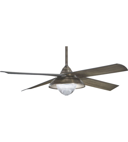 Minka Aire F683l Hbz Shade 56 Inch Heirloom Bronze With Charcoal Blades Outdoor Ceiling