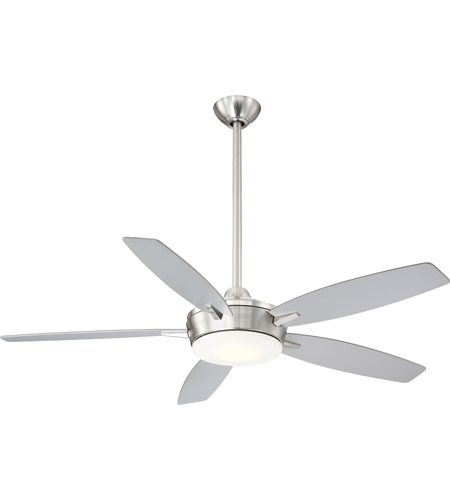 Minka Aire F690l Bn Sl Ee 52 Inch Brushed Nickel With Silver Blades