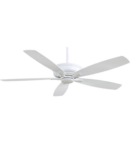 Minka Aire F696 Wh Kafe 60 Inch White Ceiling Fan Photo