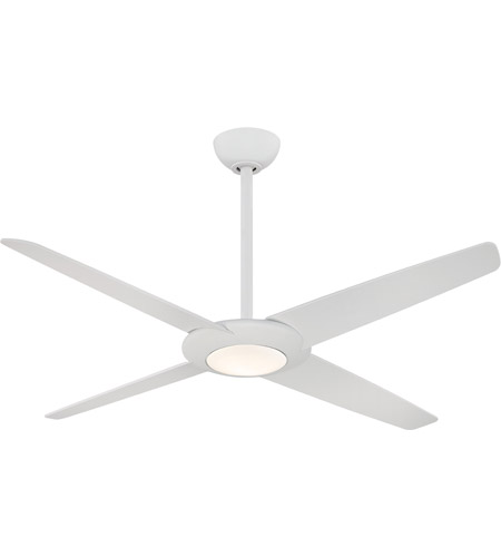Minka Aire F739l Whf Pancake Xl 62 Inch Flat White Ceiling Fan Photo
