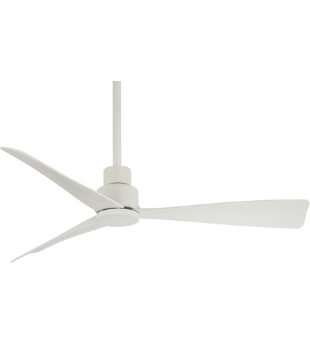 Minka Aire F786 Whf Simple 44 Inch Flat White Outdoor Ceiling Fan