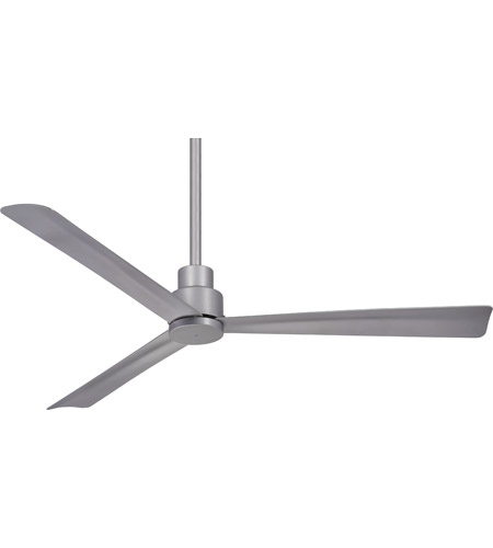 Minka aire f787 sl simple 52 inch silver outdoor ceiling fan aloadofball Images