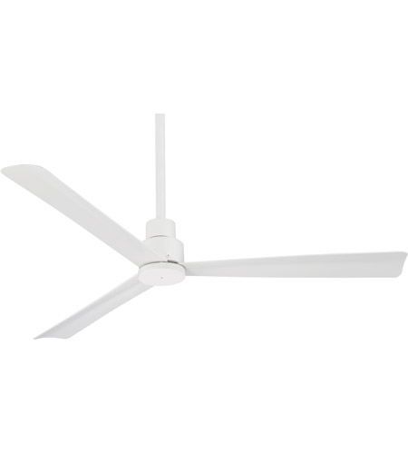 Good Minka Aire F787 WHF Simple 52 Inch Flat White Outdoor Ceiling Fan Photo