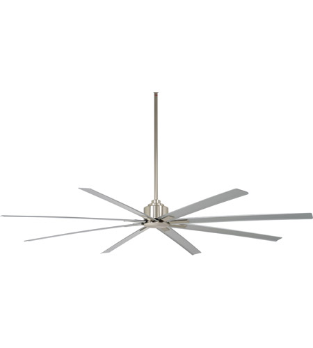 84 inch ceiling fan 7 foot minkaaire f89684bnw xtreme h2o 84 inch brushed nickel wet with