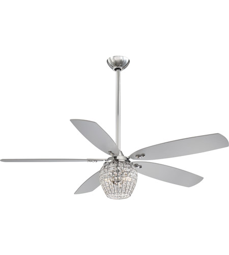 Minka aire f902l ch bling 56 inch chrome ceiling fan mozeypictures Gallery