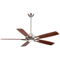 Dyno 52 inch Brushed Nickel with Medium Maple/Dark Walnut Blades Ceiling Fan in Dark Walnut / Medium Maple