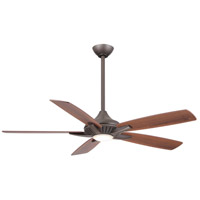 Dyno 52 inch Oil Rubbed Bronze with Medium Maple/Dark Walnut Blades Ceiling Fan in Dark Walnut / Medium Maple