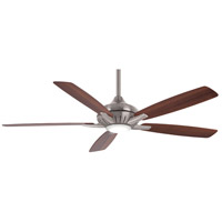Minka-Aire F1001-BN Dyno XL 60 inch Brushed Nickel with Medium Maple/Dark Walnut Blades Smart Fan