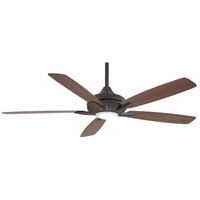 Minka-Aire F1001-ORB Dyno XL 60 inch Oil Rubbed Bronze with Medium Maple/Dark Walnut Blades Smart Fan