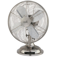 Minka-Aire Retro Style Fan Portable Fan in Brushed Nickel F300-BN