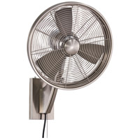 Anywhere 21 inch Brushed Nickel Indoor-Outdoor Oscillating Wall Fan