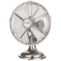Retro II Brushed Nickel 15 inch Table Fan