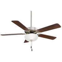 Minka-Aire F448L-BS/DW Contractor Uni-Pack LED 52 inch Brushed Steel with Dark Walnut Blades Ceiling Fan