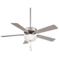 Minka-Aire F448L-BS Contractor II Uni-Pack 52 inch Brushed Steel with Silver Blades Ceiling Fan