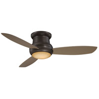 Concept II Wet 52 inch Oil Rubbed Bronze with Taupe Blades Flush Mount Ceiling Fan
