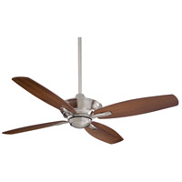 New Era 52 inch Brushed Nickel with Dark Walnut Blades Ceiling Fan