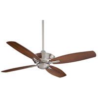 Minka-Aire F513-BN New Era 52 inch Brushed Nickel with Dark Walnut Blades Ceiling Fan