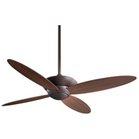 Zen 52 inch Oil Rubbed Bronze with Medium Maple Blades Ceiling Fan in Tinted Opal