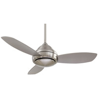 Concept I 44 inch Brushed Nickel with Silver Blades Ceiling Fan