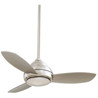 Concept I 44 inch Polished Nickel with Silver Blades Ceiling Fan