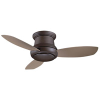 Concept 44 inch Oil Rubbed Bronze with Taupe Blades Ceiling Fan, Flush Mount