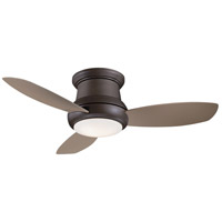 Concept II 44 inch Oil Rubbed Bronze with Taupe Blades Flush Mount Ceiling Fan