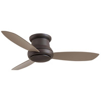 Concept 52 inch Oil Rubbed Bronze with Taupe Blades Ceiling Fan, Flush Mount