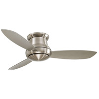 Minka-Aire F519L-BN Concept II 52 inch Brushed Nickel with Silver Blades Flush Mount Ceiling Fan