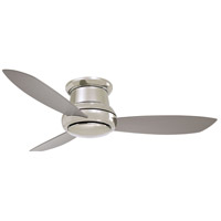 Minka-Aire F519L-PN Concept II 52 inch Polished Nickel with Silver Blades Flush Mount Ceiling Fan